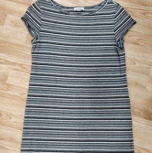 Loft Striped Tee Dress